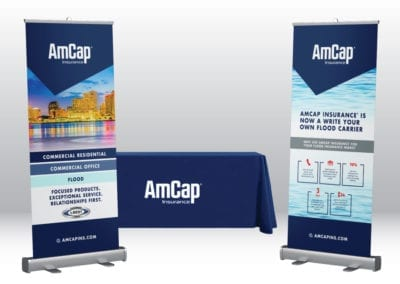 trade show display | AmCap Insurance | the midnight oil group