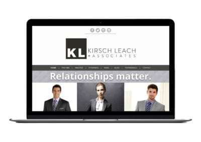 website design | Kirsch Leach Law | the midnight oil group