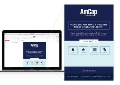 email marketing design | AmCap Insurance | the midnight oil group