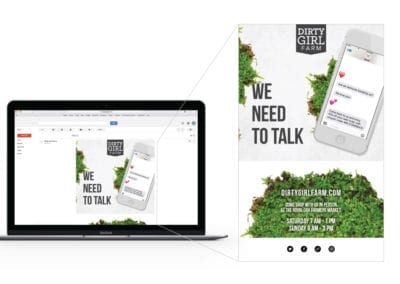 automated email marketing design | Dirty Girl Farm | the midnight oil group