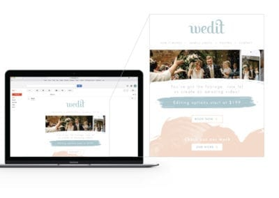 email marketing design | Wedit | the midnight oil group