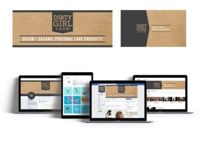 social media visual identity | Dirty Girl Farm | the midnight oil group