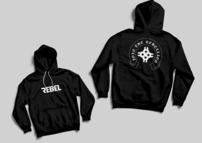 hooded sweatshirt design | Rebel Fitness | the midnight oil group