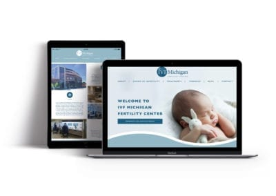 "<a href=""https://www.ivf-mi.com"">informational website design 
