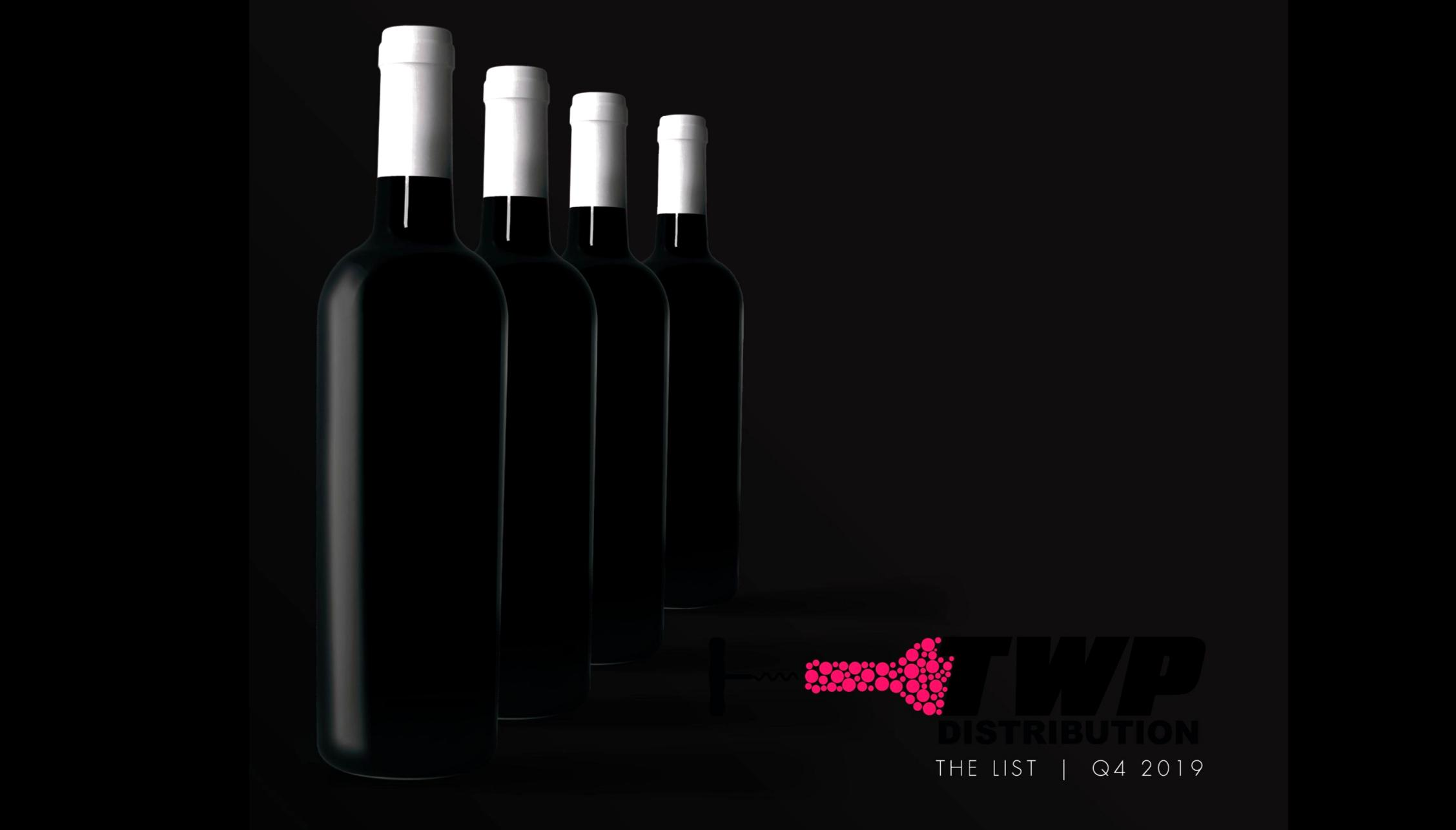 THE WINE POOR DISTRIBUTION 2019 Q4 CATALOG