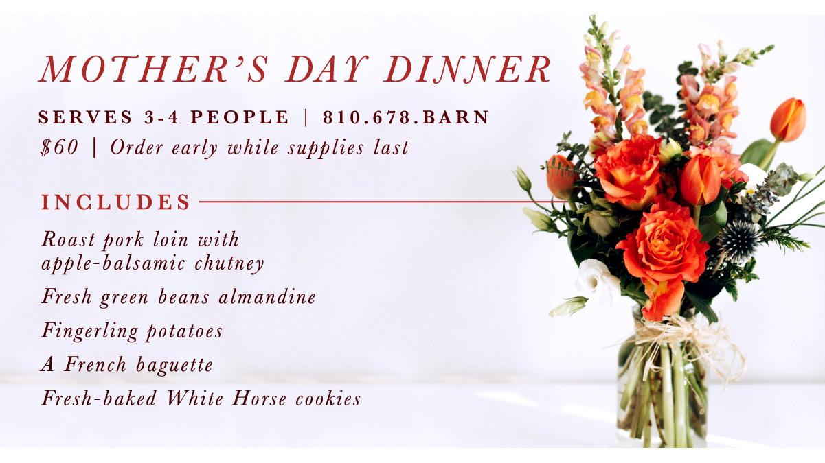 WXYZ FEATURES WHITE HORSE INN'S MOTHER'S DAY DEAL