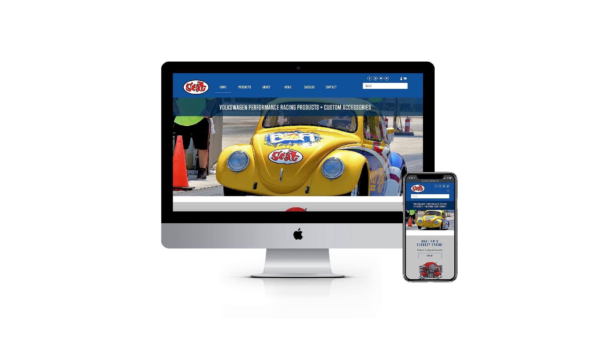 SCAT VW DEBUTS NEW WEBSITE