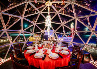 Dining Igloos at Deadwood in Northville, Michigan