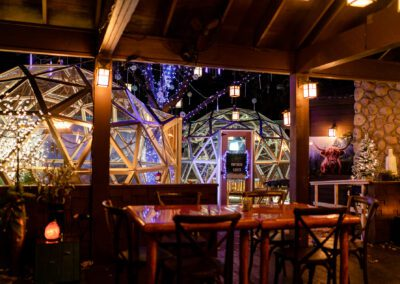 Dining Igloos at the Moose Preserve in Bloomfield Hills, Michigan
